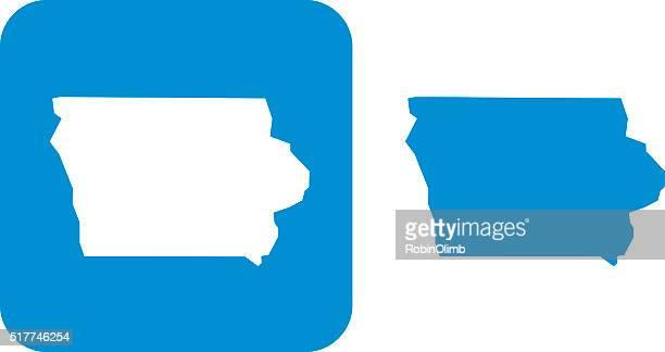 Blue Iowa Icons