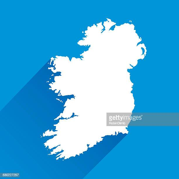 Blue Ireland Map Icon