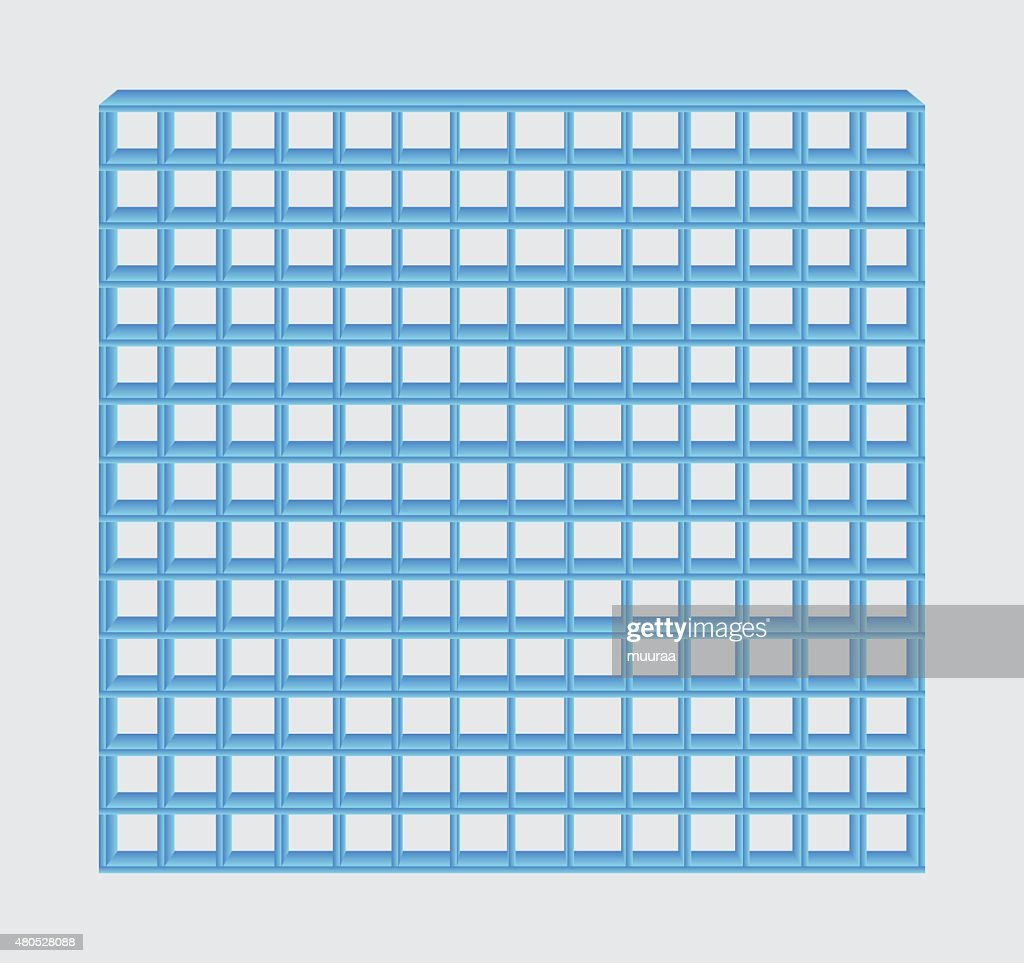 blue jail bars : Vector Art