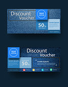Blue jeans texture background with discount voucher layout