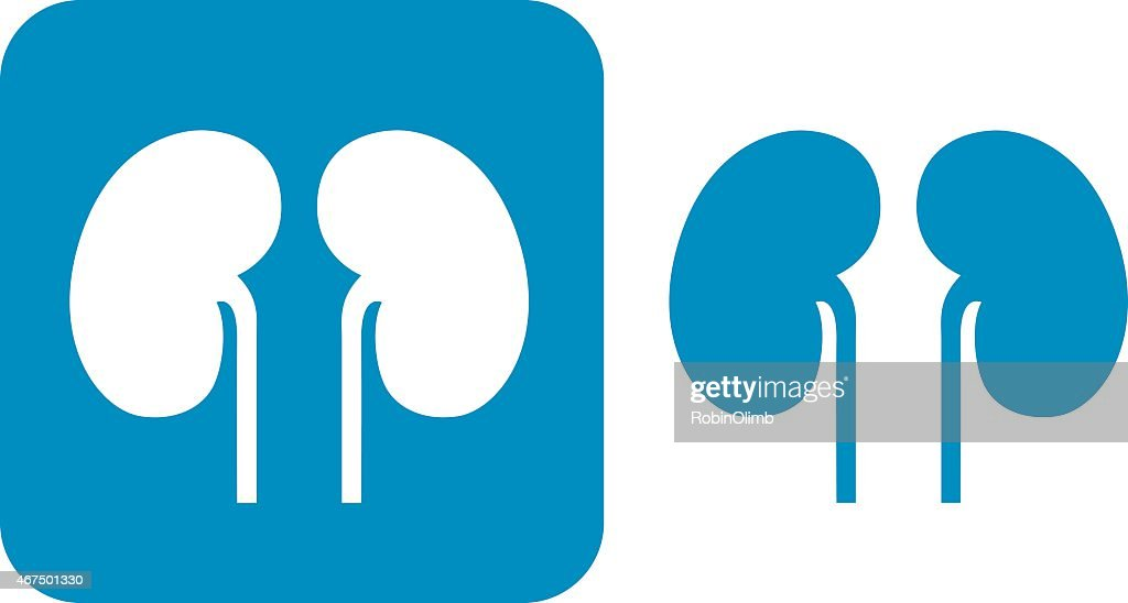 Blue Kidneys  Icons