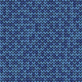 Blue knitted seamless background pattern