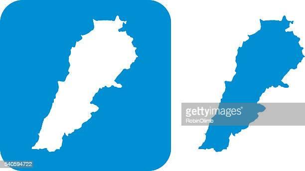 レバノンのアイコンブルー - レバノン共和国点のイラスト素材/クリップアート素材/マンガ素材/アイコン素材