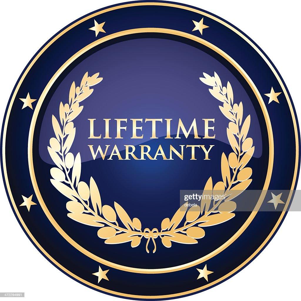 Blue Lifetime Warranty Shield