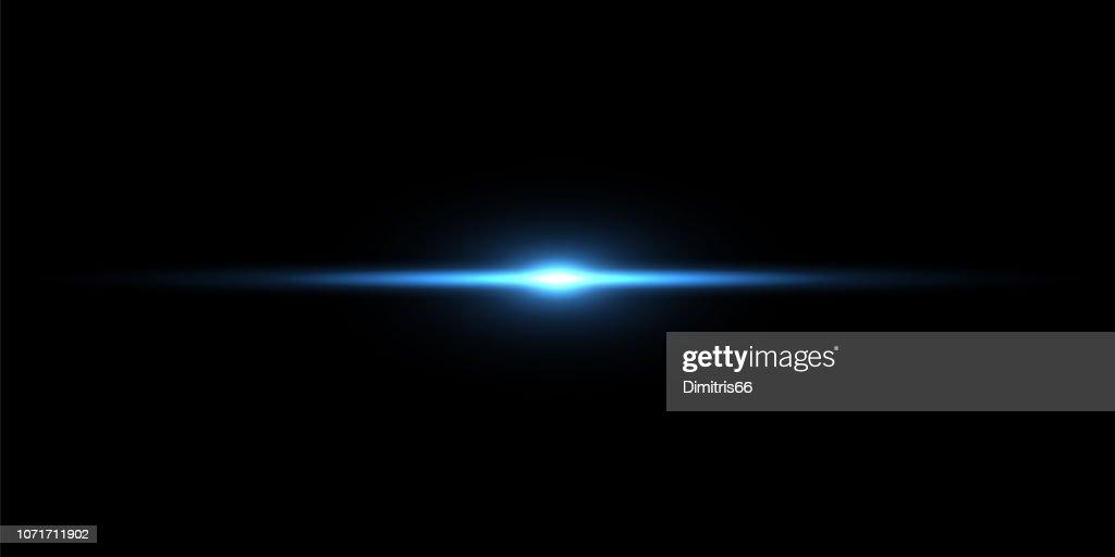 Blue light beam on black background : Stock Illustration