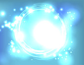 Blue Light Explosion Abstract Background Illustration