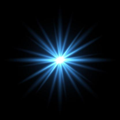 Blue light star on black background - gettyimageskorea