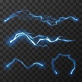 Blue lightnings set