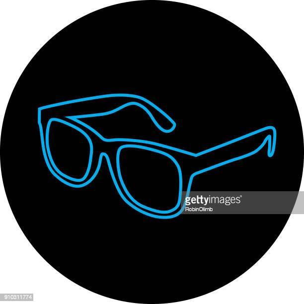 Blue Line Eyeglasses Icon