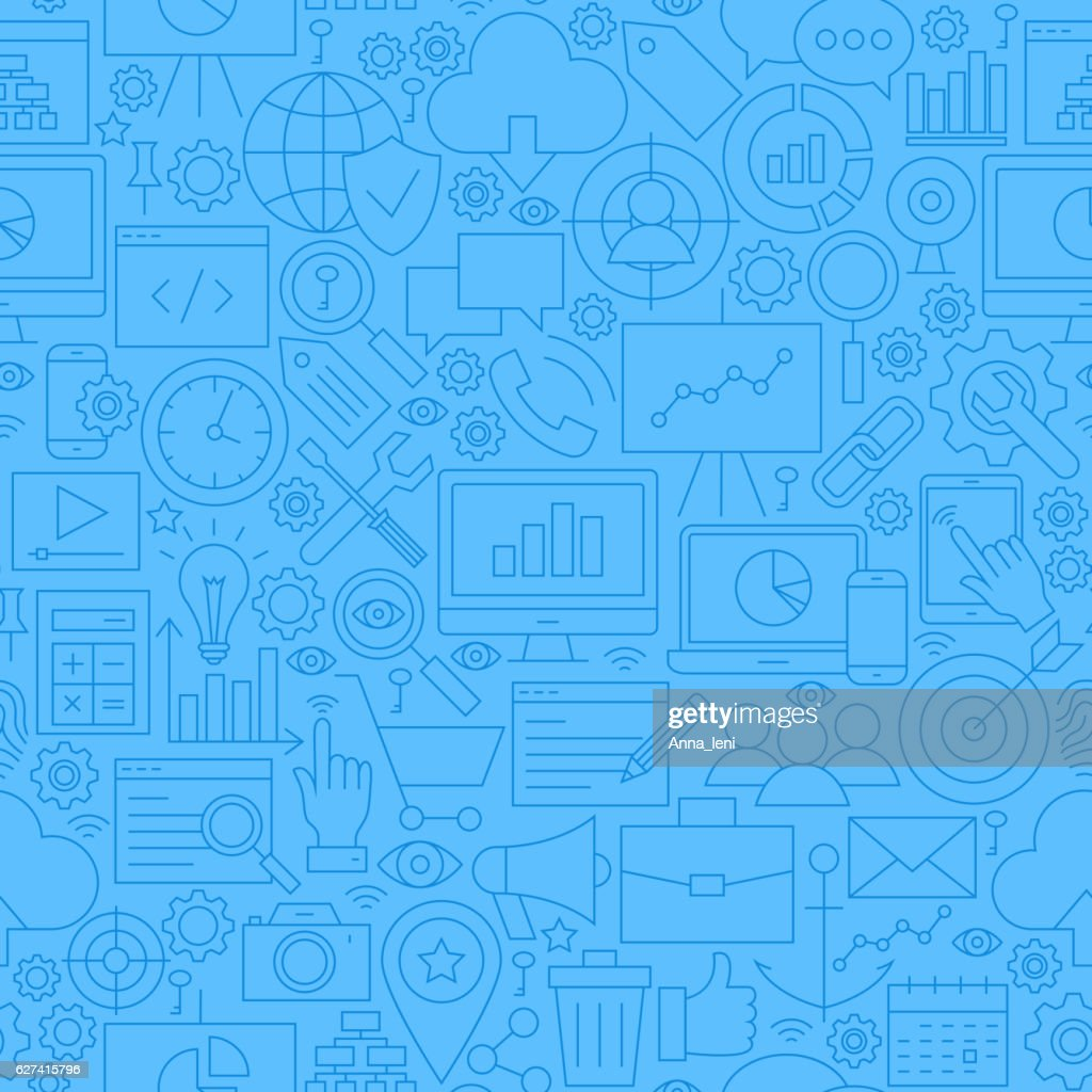 SEO Blue Line Seamless Pattern