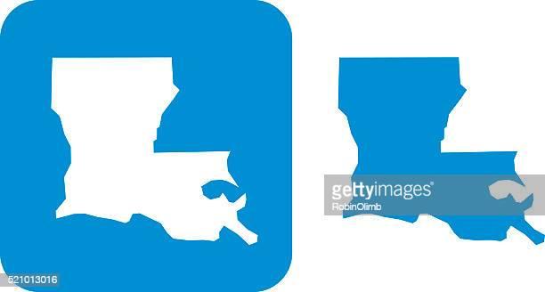 ルイジアナアイコンブルー - 米メキシコ湾沿岸点のイラスト素材/クリップアート素材/マンガ素材/アイコン素材