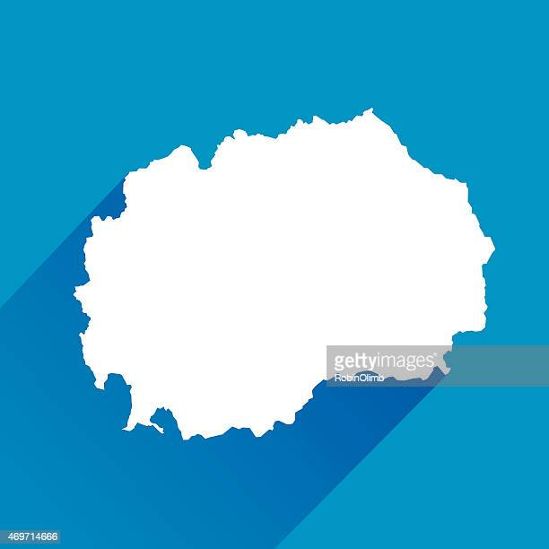 Blue Macedonia Map Icon