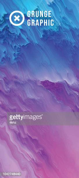blue magenta digital glitch abstract grunge waves background - pink and blue background stock illustrations