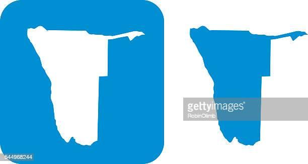 blue mamibia icon - namibia stock illustrations, clip art, cartoons, & icons