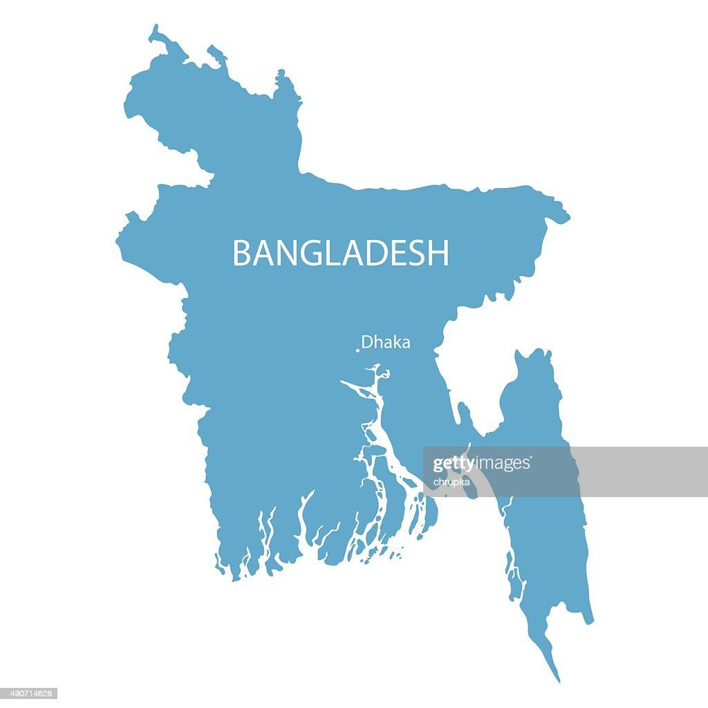 blue map of Bangladesh