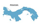 blue map of Panama