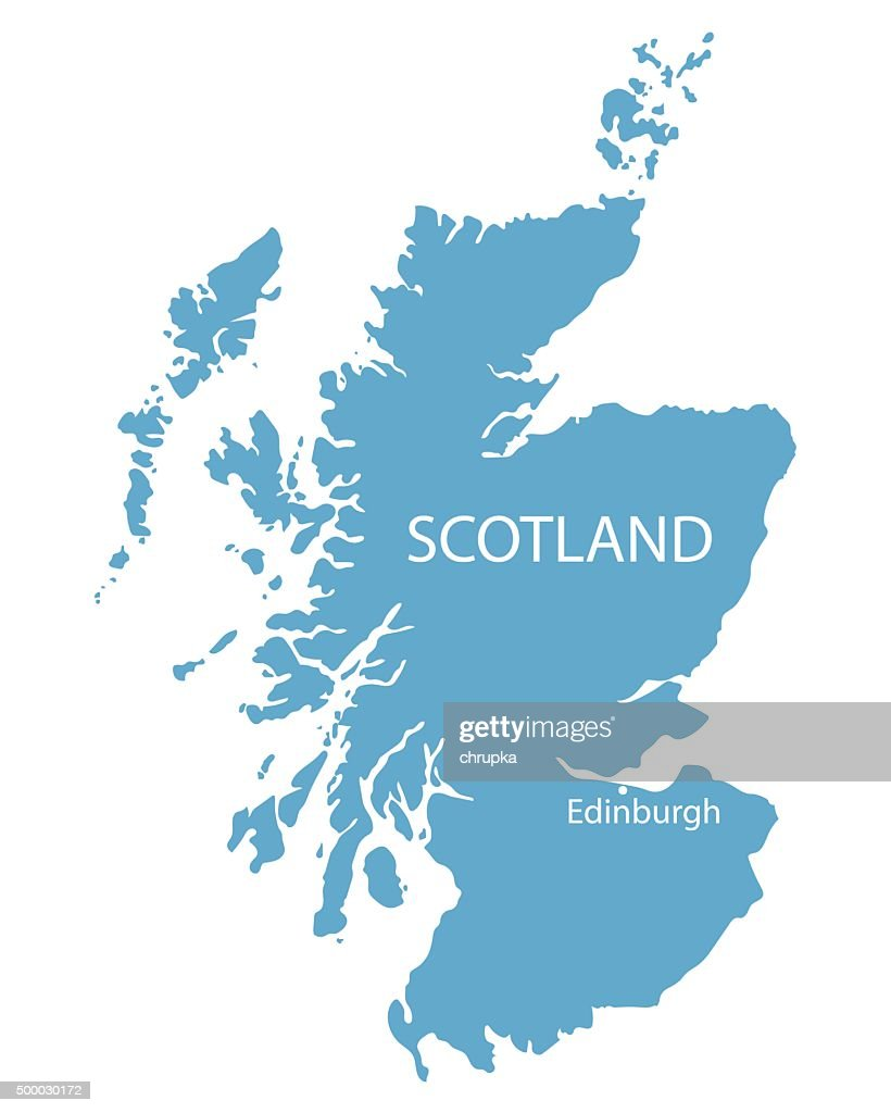 blue map of Scotland