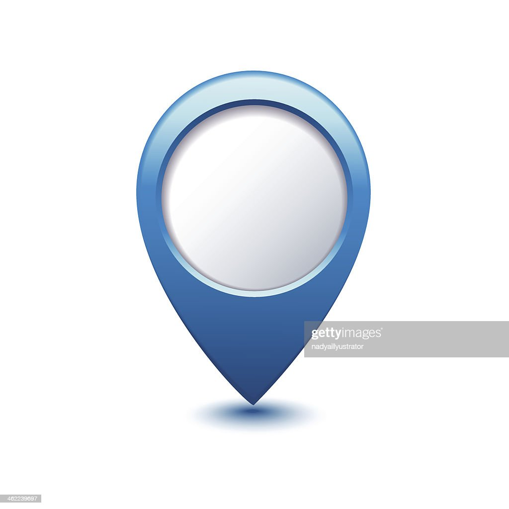 blue map pointer - Illustration