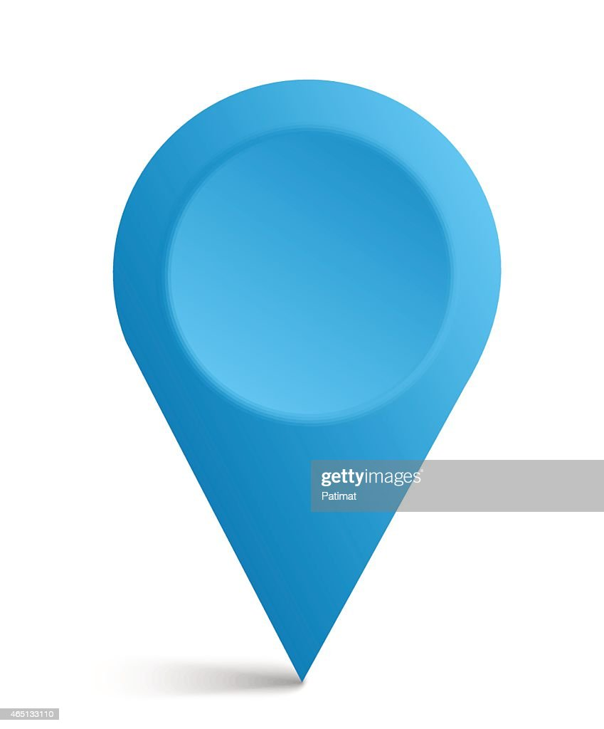 Blue map symbol isolated on a white background