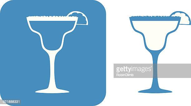blue margarita icons - margarita stock illustrations