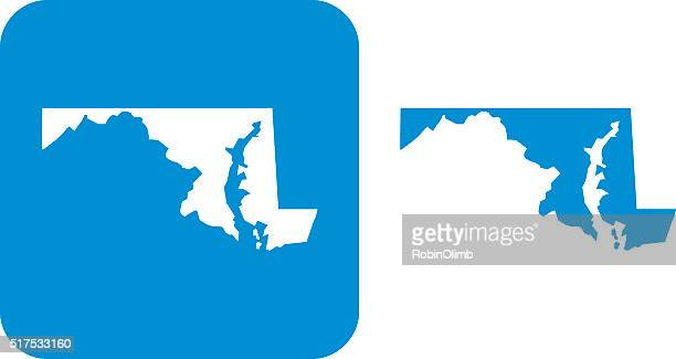 blue maryland icon - maryland stock illustrations, clip art, cartoons, & icons