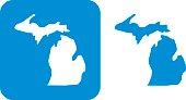 Blue Michigan Icon