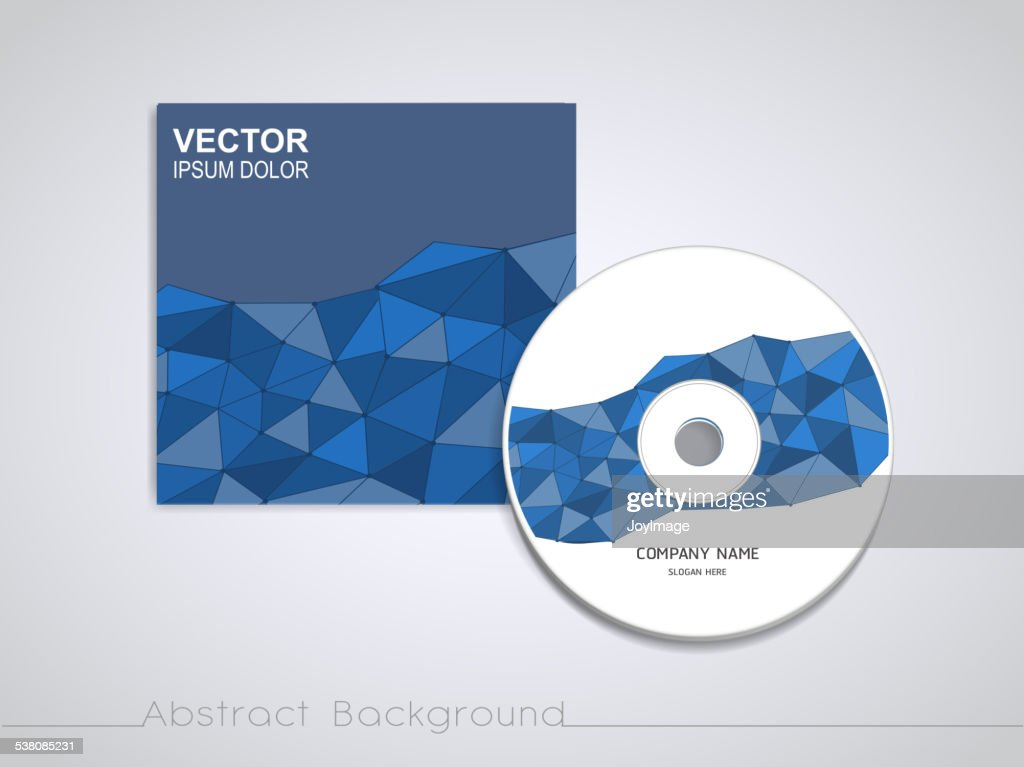 blue mosaic background design for CD cover