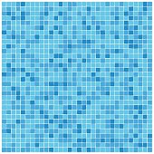 Blue mosaic tiles pattern