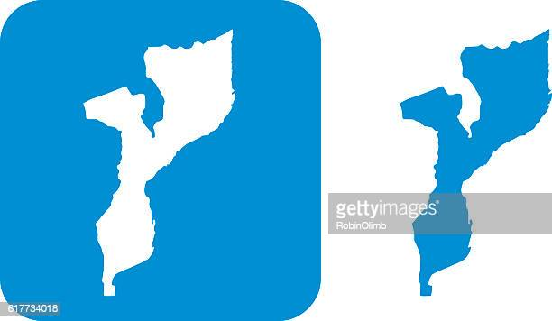 blue mozambique icons - mozambique stock illustrations, clip art, cartoons, & icons