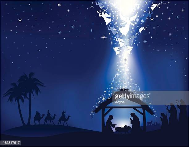 Blue Nativity Background
