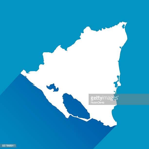 Blue Nicaragua Map Icon