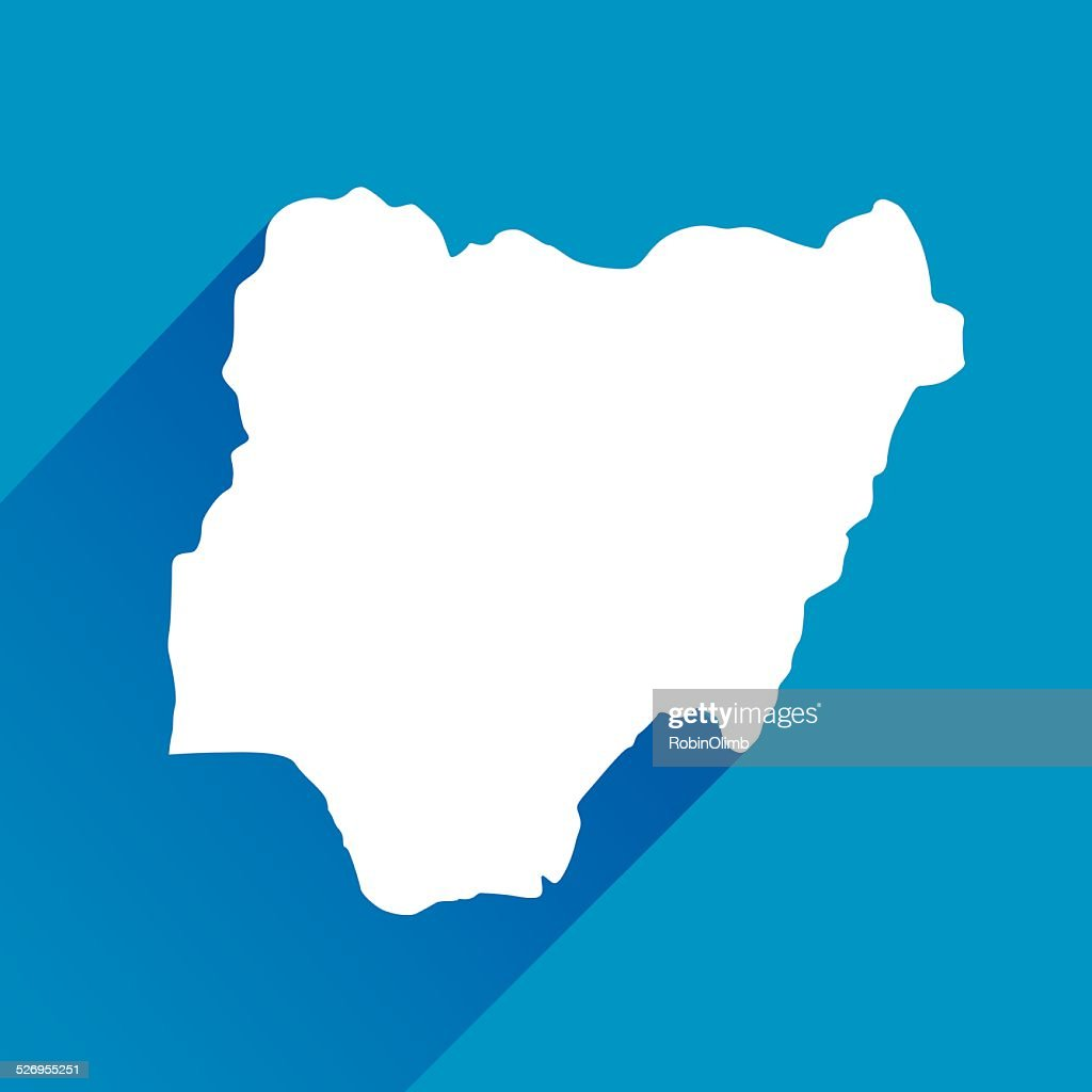 Blue Nigeria Map icon