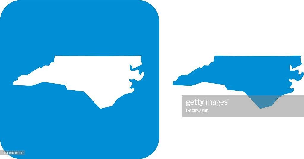 Blue North Carolina Icon
