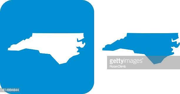 ノースカロライナのアイコンブルー - ノースカロライナ州点のイラスト素材/クリップアート素材/マンガ素材/アイコン素材