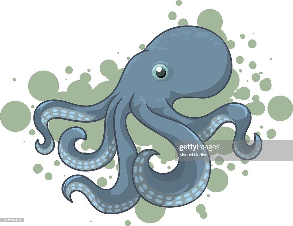Blue Octopus : stock illustration
