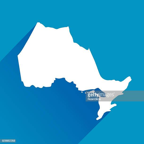 blue ontario map icons - ontario canada stock illustrations