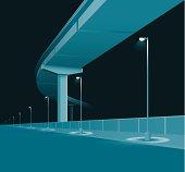Blue Overpass