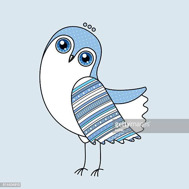 Blue Owl Vector Character