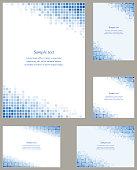 Blue page corner design template