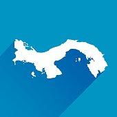 Blue Panama Map Icon