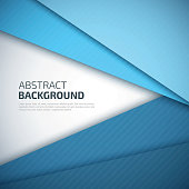 Blue paper layers abstract vector background.