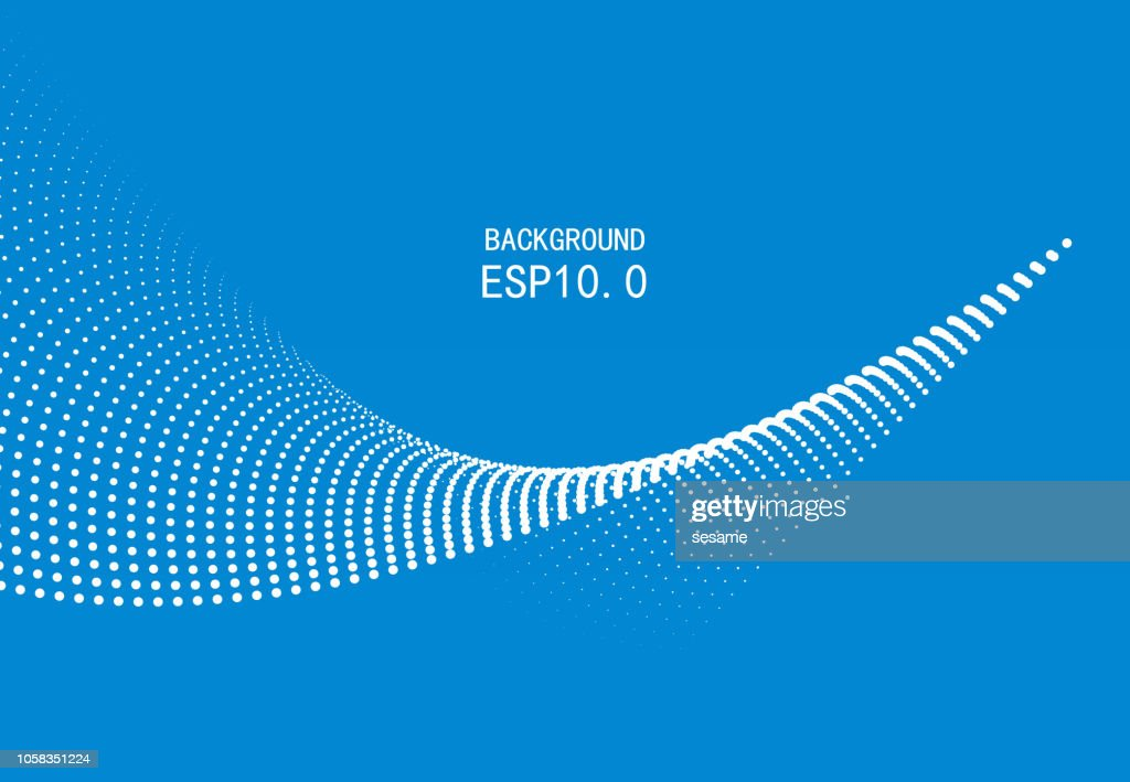 Blue particle curve background : stock illustration