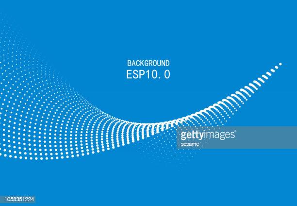 blue particle curve background - spotted stock illustrations
