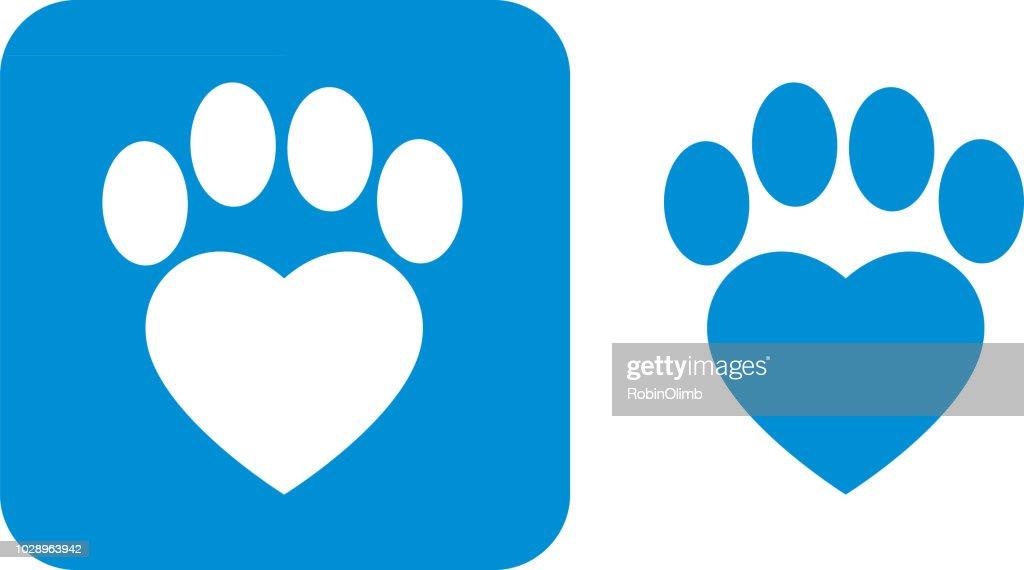Blue Paw Print Icons Vector Art
