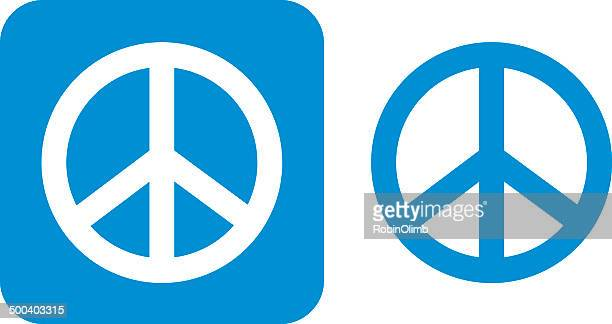 Blue Peace Sign Icons