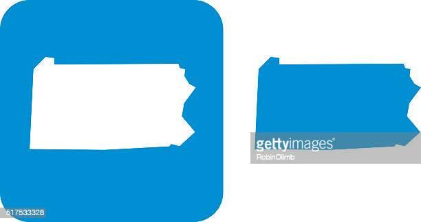 Blue Pennsylvania Icons