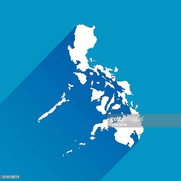 Philippinen Karte, Symbol blau