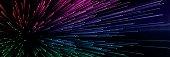 Blue Pixel Burst