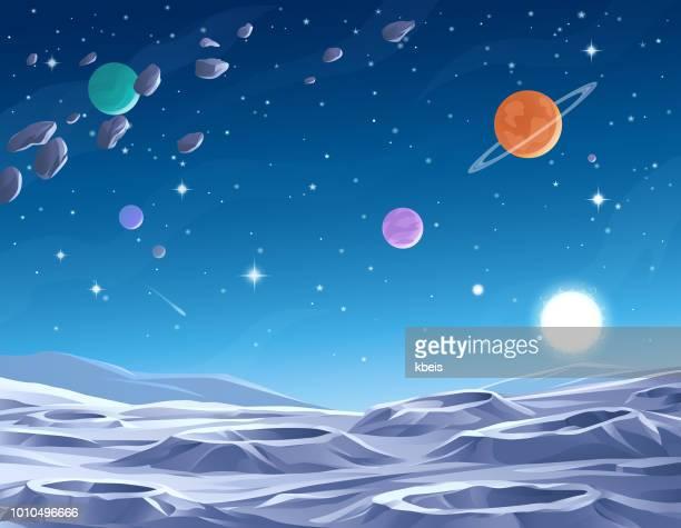 blue planet - 宇宙・天文点のイラスト素材/クリップアート素材/マンガ素材/アイコン素材