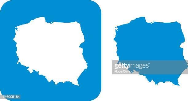 Blue Poland Icon